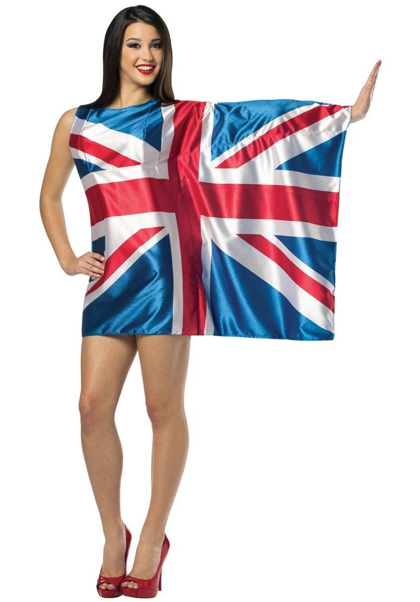 ed6cf33f403 Rasta Imposta also provides costume wigs and accessories. British Flag Dress