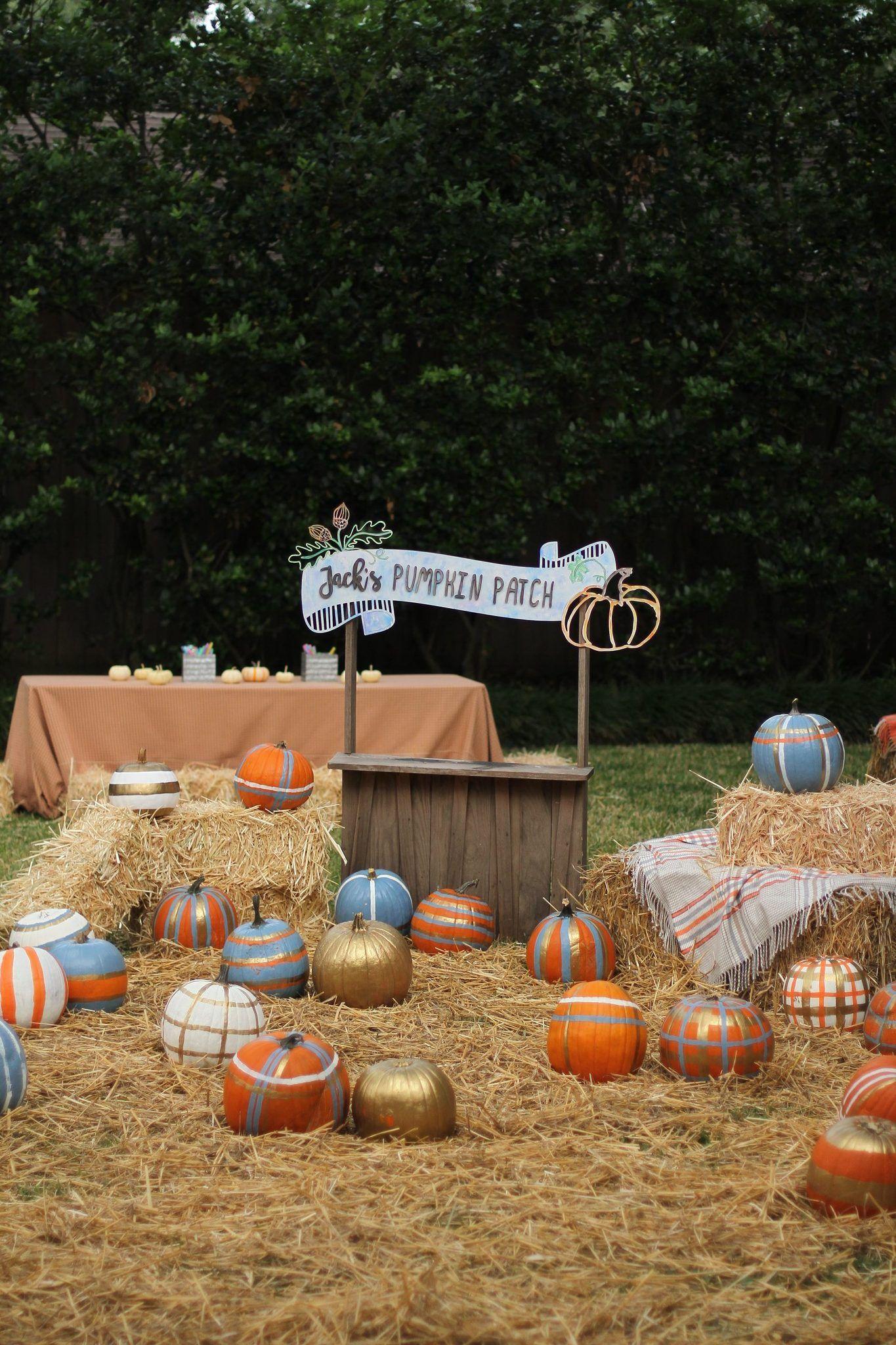 pumpkin patch kids birthday party #pumpkinpatch
