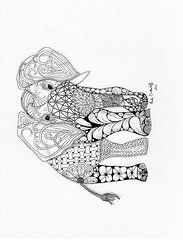 Zentangles Art - Elephant by Paula Dickerhoff