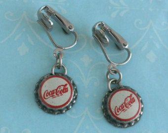 Coca-Cola Bottle Cap Earrings Necklace /& Key Ring