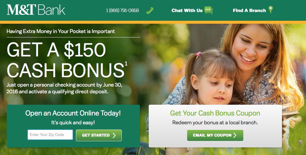 m t bank 150 ezchoice checking account bonus banking money rh pinterest com