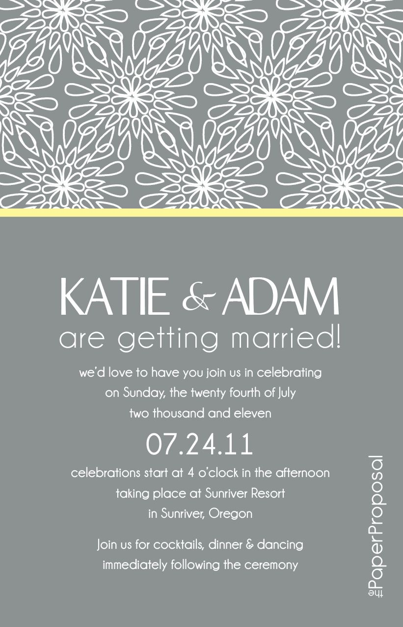Modern Bloom Wedding Invitation Just Needs A Mobile Version