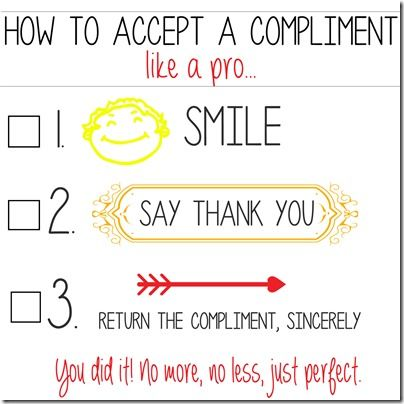 how to return a compliment