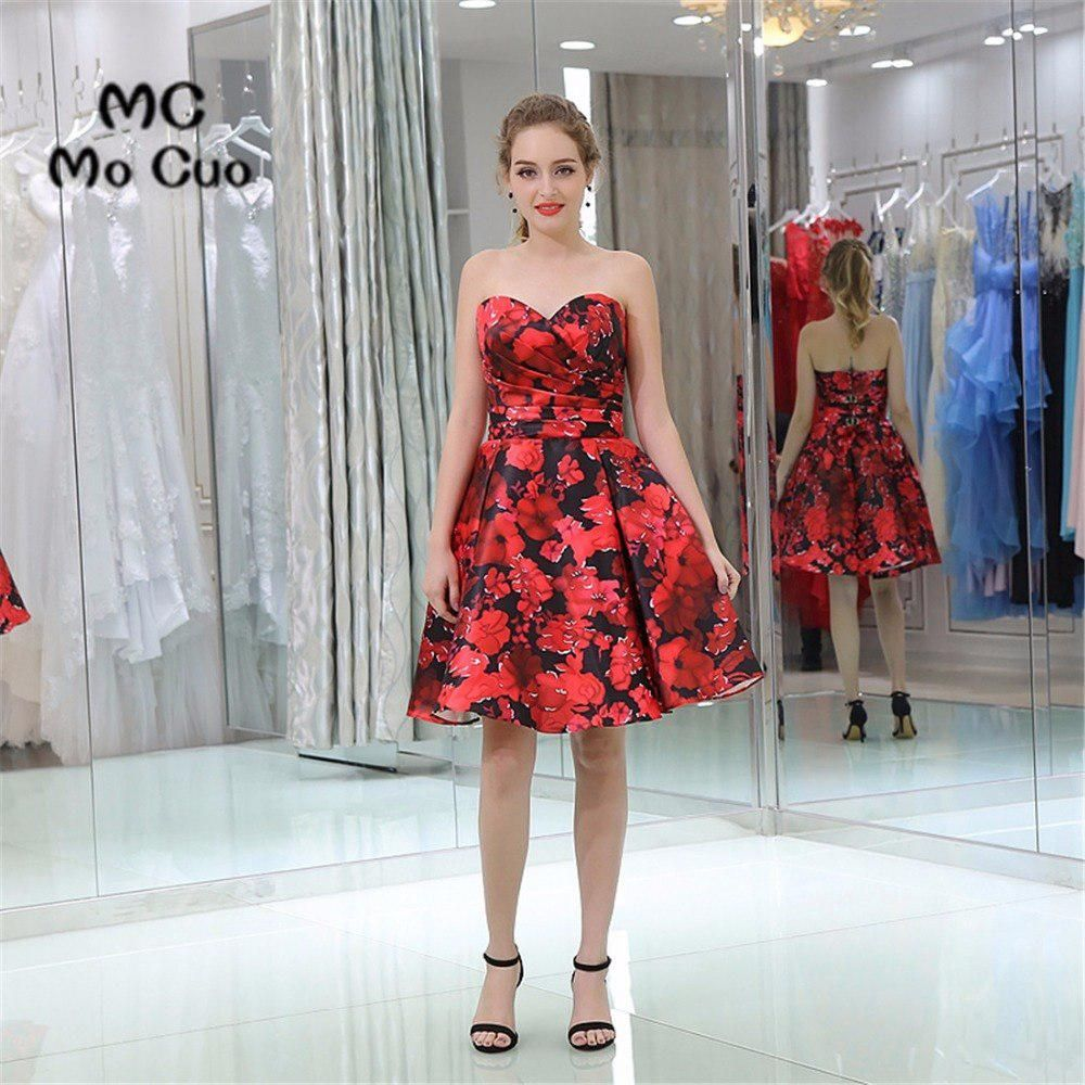 Floral party dresses cocktail party dresses homecoming dress
