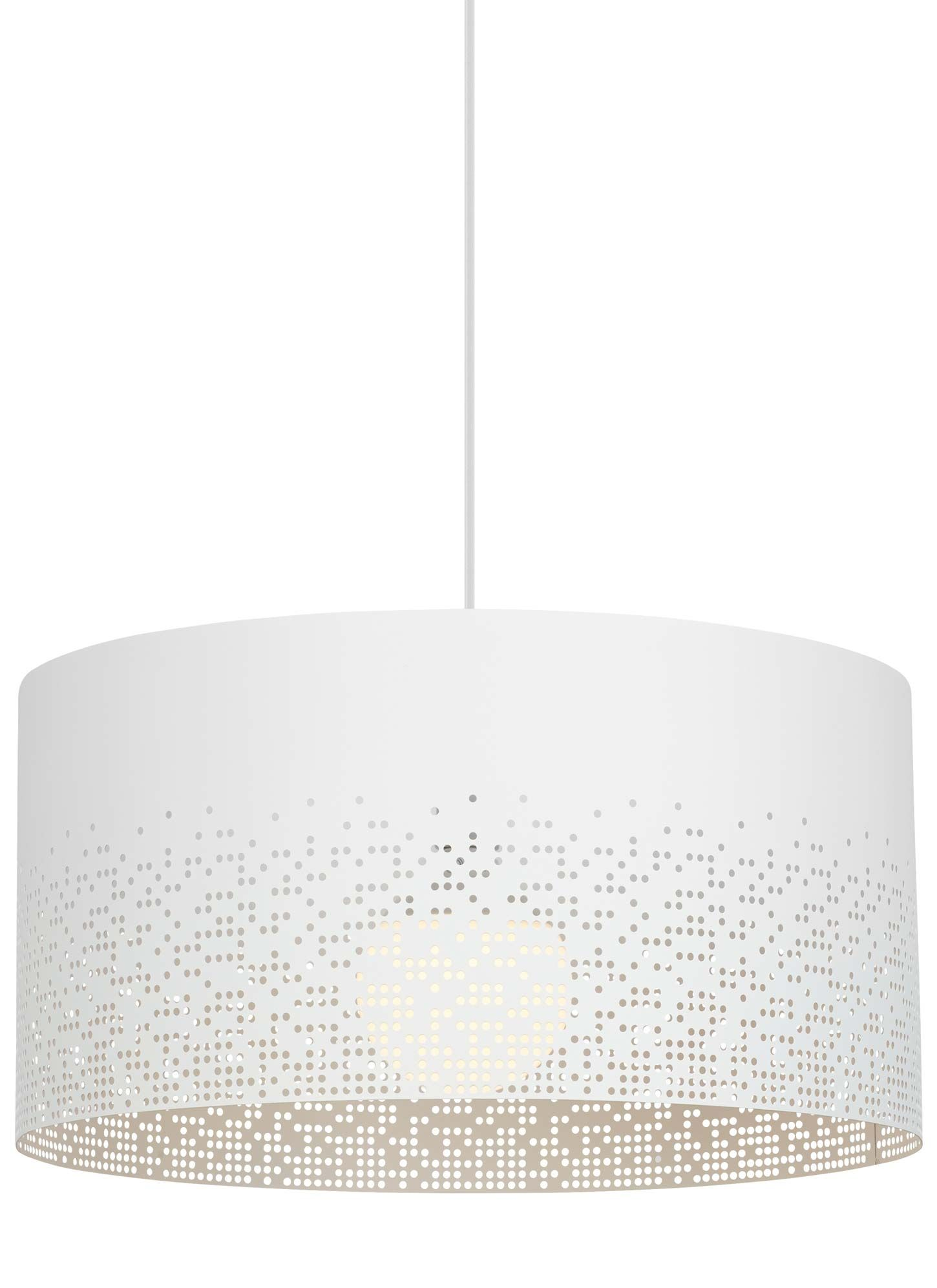 Crossblend Grande Pendant Features A Perforated Shade With A Random
