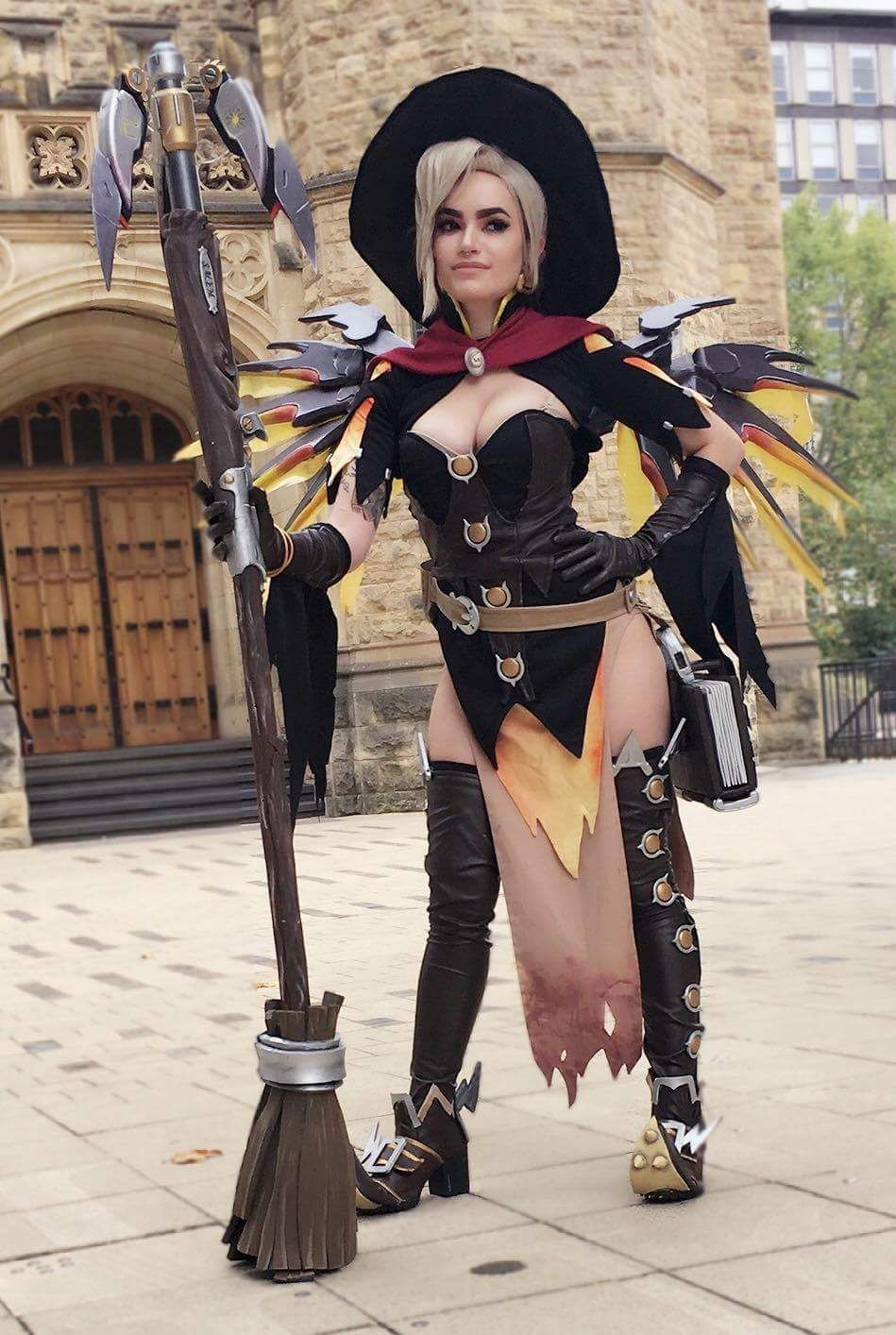 We can see her one more time… Witch Mercy from Overwatch Cosplayer ...
