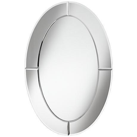 Carlita Beveled 23 3 4 X 36 Oval Frameless Mirror 1m460 Lamps Plus Frameless Mirror Mirror Contemporary Mirror
