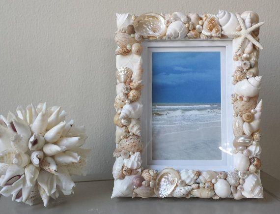 Seashell Frame, Beach Photo Frame, Shell Photo Frame, Shell Frame ...