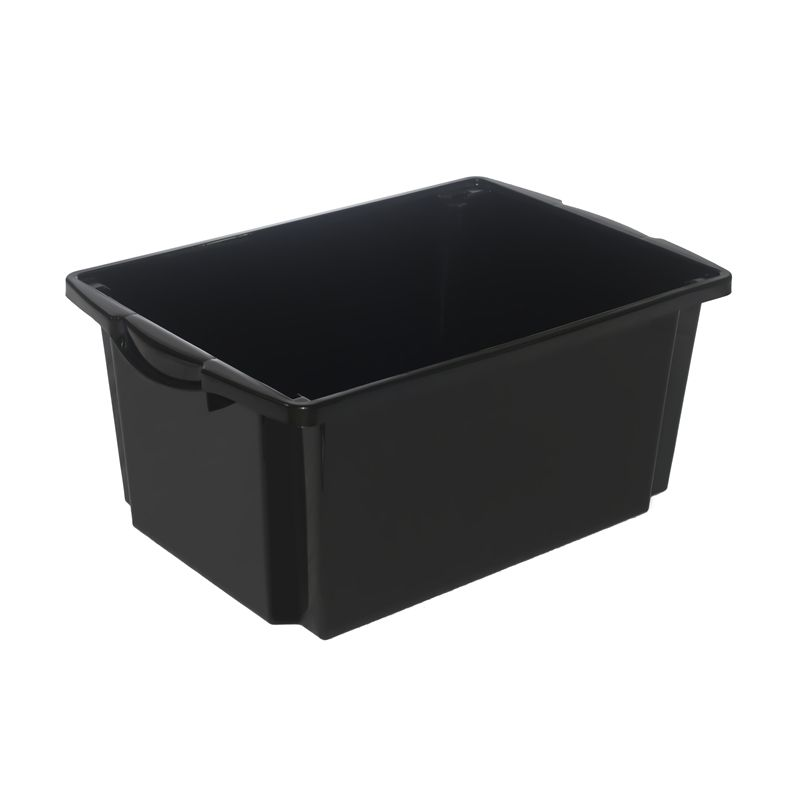 Storage Crate Award 44l Storeaway Black Bunnings Warehouse 9 98 W 560 H 395 L 255 Could This Sit In A Blum Tandembox Crate Storage Cleaning Items Crates