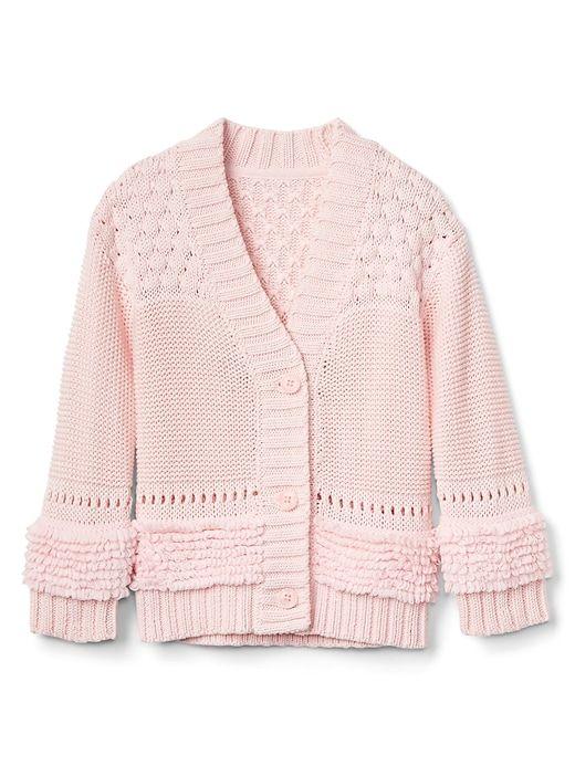 277a2f996 Gap Baby Mix-Texture Cardigan Pink