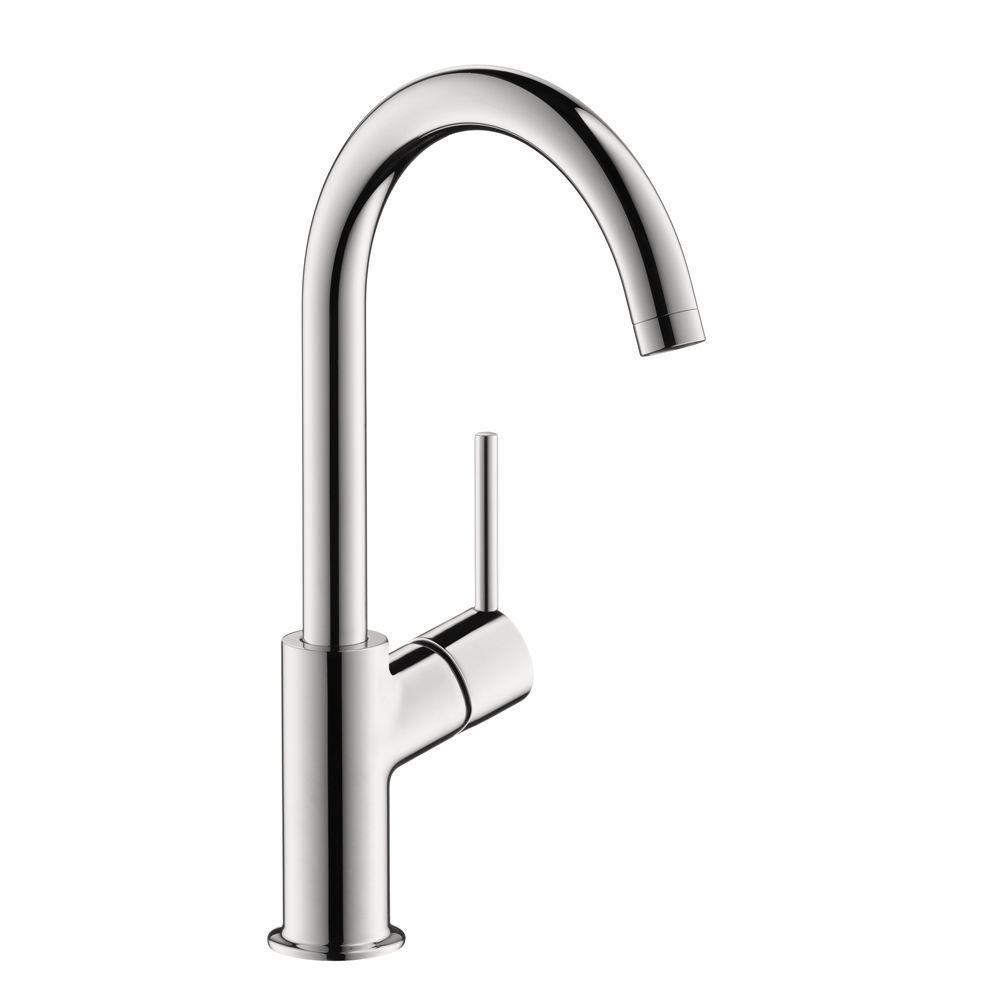 Hansgrohe Talis S Single Hole Single-Handle Mid Arc Bathroom Faucet ...