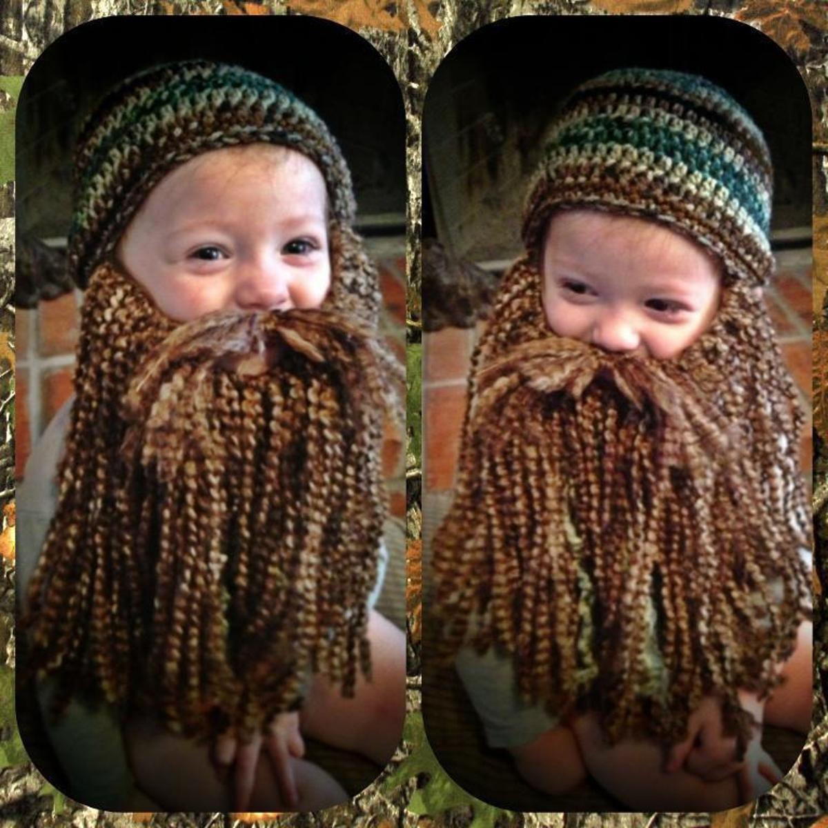Duck Dynasty Beard and Hat Pattern | Duck dynasty beards, Crocheting ...