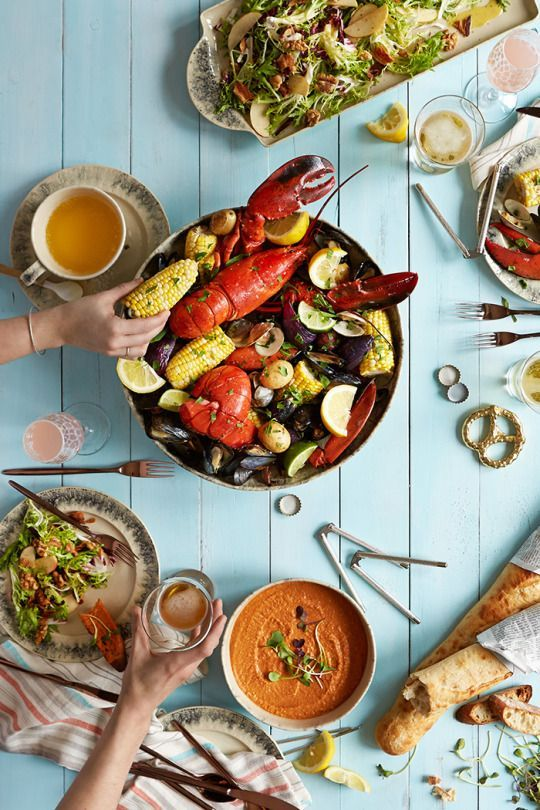 Seafood Ideas For Dinner Party Part - 44: Letu0027s Get Cracking:A Summer Clambake The Summer Dinner Party Might Just Be  Our Favorite