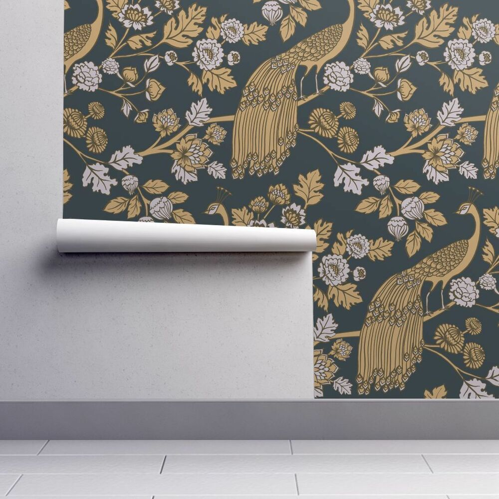 This Pvc Free Fsc Certified Wallpaper Also Features Mold Mildew And Water Resistance A Ve Peacock Wallpaper Peel And Stick Wallpaper Self Adhesive Wallpaper