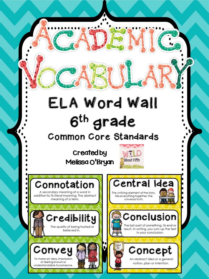 6th Grade Teachers Its Finally Here Ela Common Core Vocab Set And
