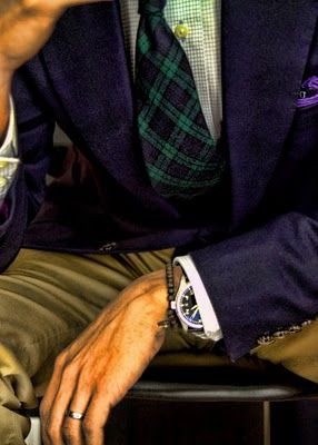 Tartan and a dark jacket #classicmenswear