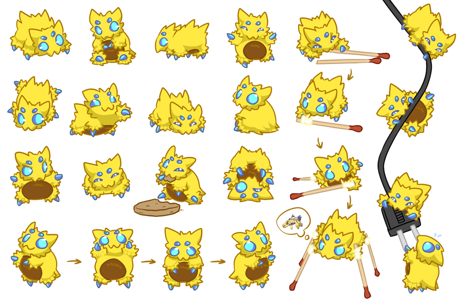 So Much Joltik Color By Cartoonjunkie On Deviantart Cute Pokemon Pokemon Pokemon Chart