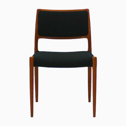 Dänischer Modell 80 Teak Stuhl von Niels Otto Møller für JL Møller