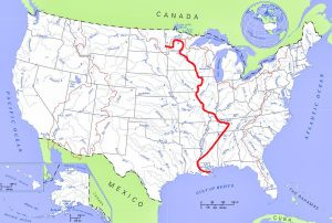 Where Is The Mississippi River Located On The Us Map Mississippi River | Lake map, Us map, Mississippi river