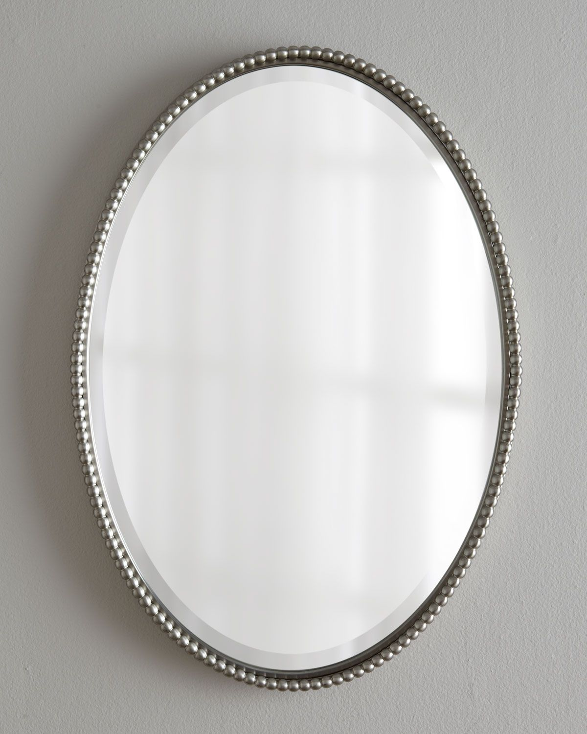 Traci Oval Mirror | Forging metal, Nickel finish and Brushed nickel