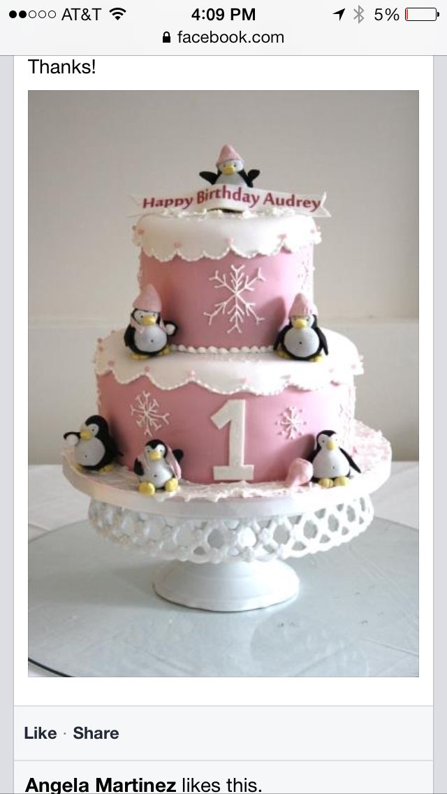 Winter cake birthday ideas Pinterest Cake