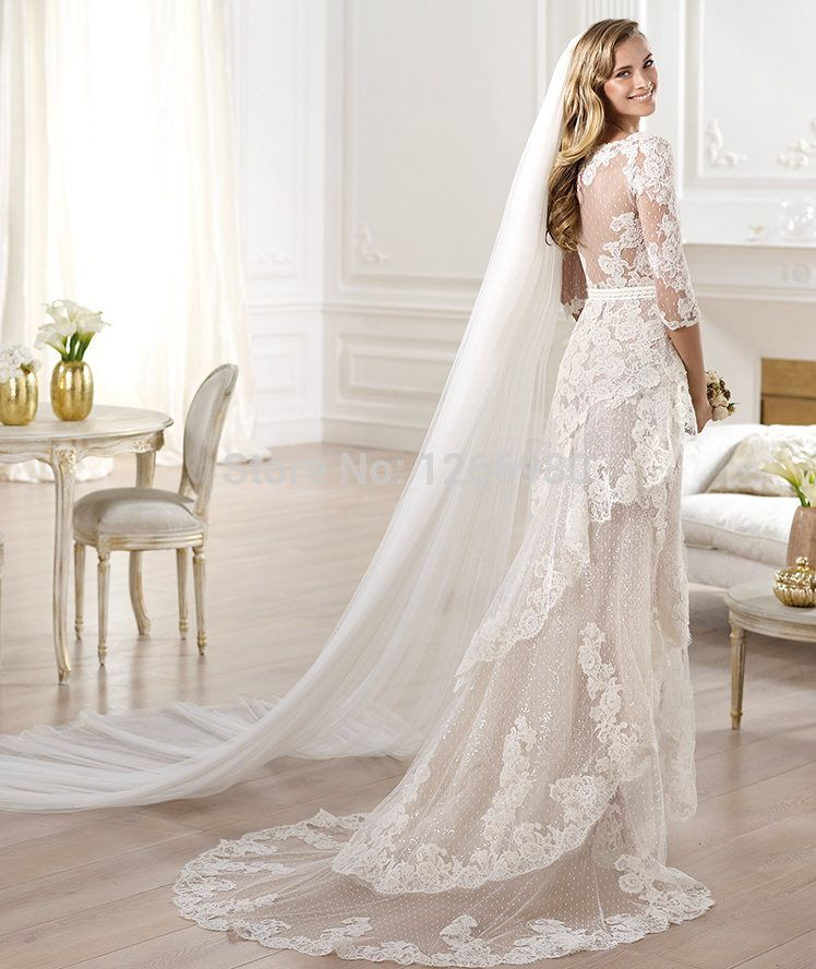 find this pin and more on long sleeve dresses pronovias 2014 atelier bridal collection yaela lace