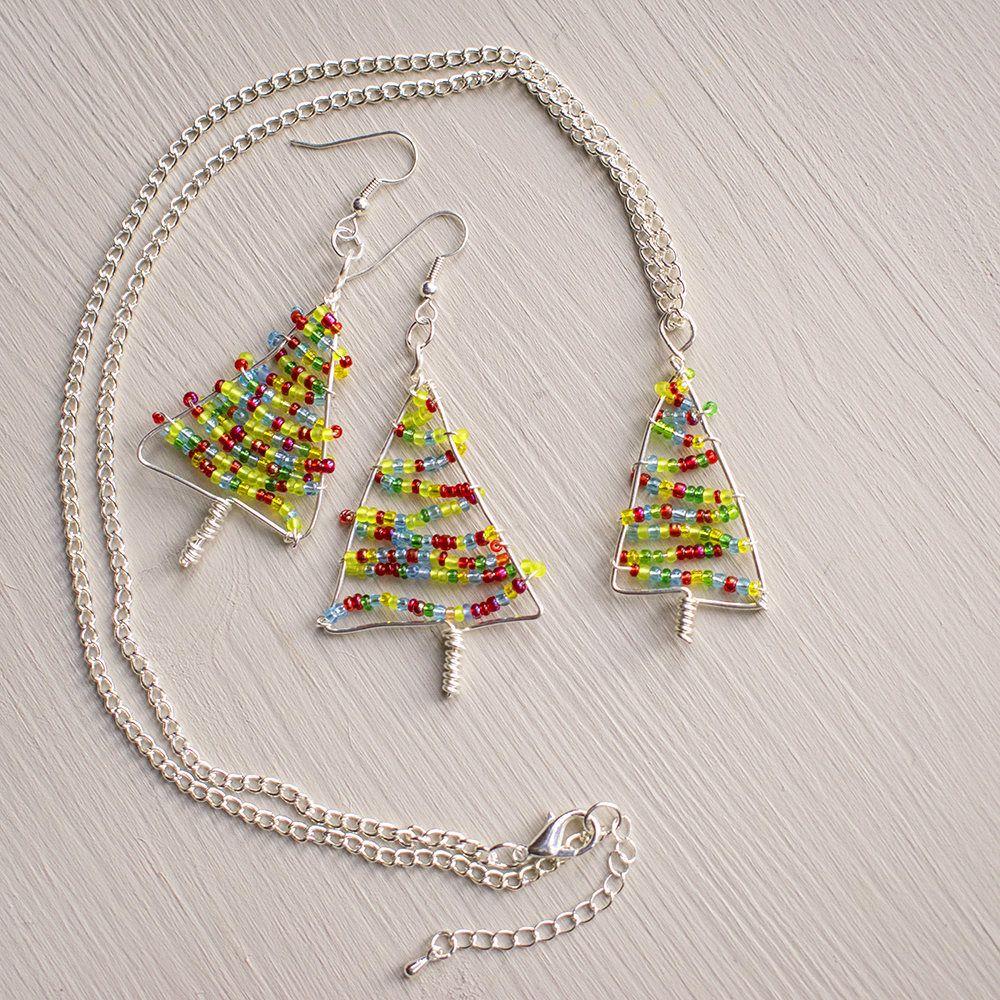 Christmas tree jewellery set, Fun Christmas gift idea for women ...
