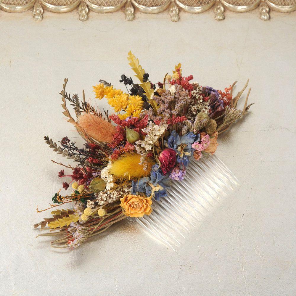 Dried Flower Comb, Australian Floral Hair Piece, Bridal