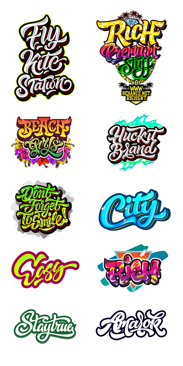 Logos / Prints 131415 part 3 on Behance Graffiti