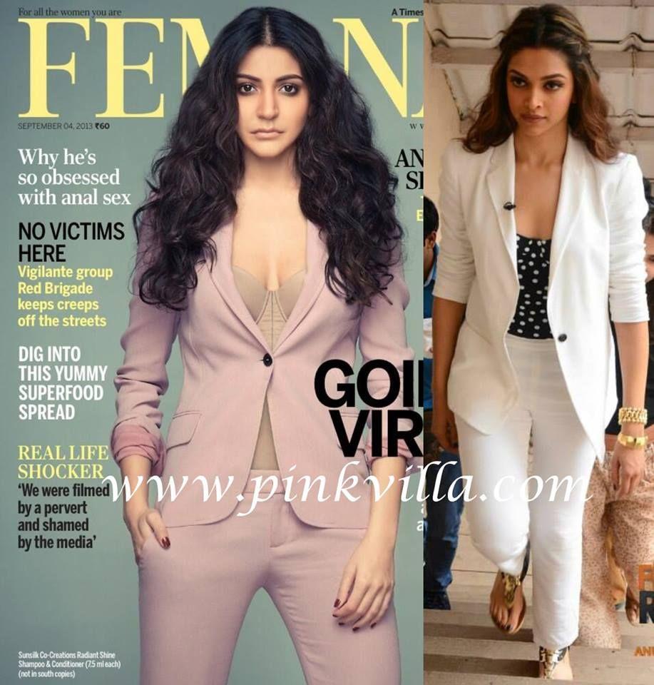 In Pant Suit Anushkasharma Vs Deepikapadukone Anushka Sharma Anushka Sharma Bikini Bollywood Actress Hot Photos