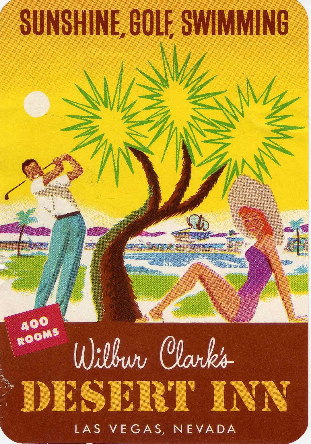 1950 S Vintage Promo Ad For Wilbur Clark S Desert Inn Hotel