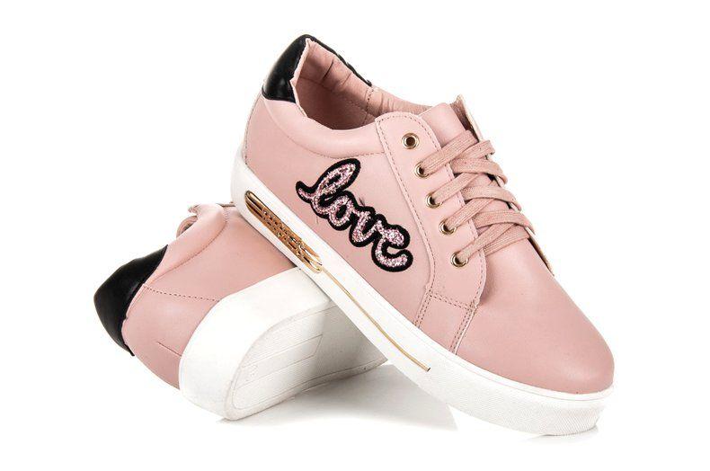 Vices Sznurowane Trampki Love Rozowe Baby Shoes Sneakers Shoes