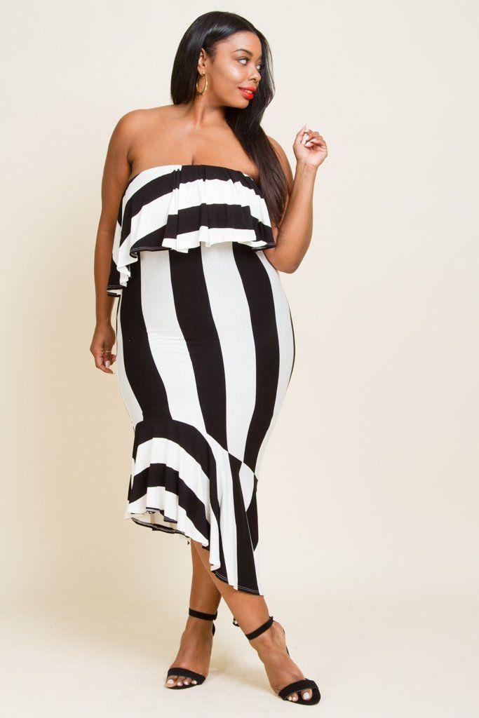 Black Tube Dress Plus Size Tank