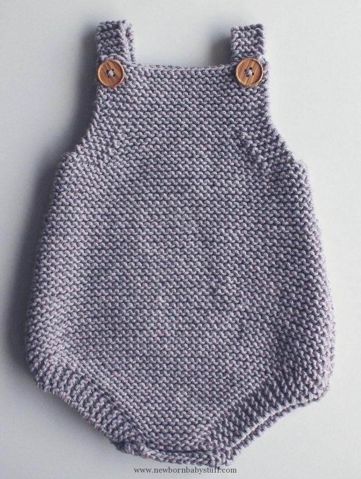 Baby Knitting Patterns Free Knitting Pattern For Easy Baby Romper