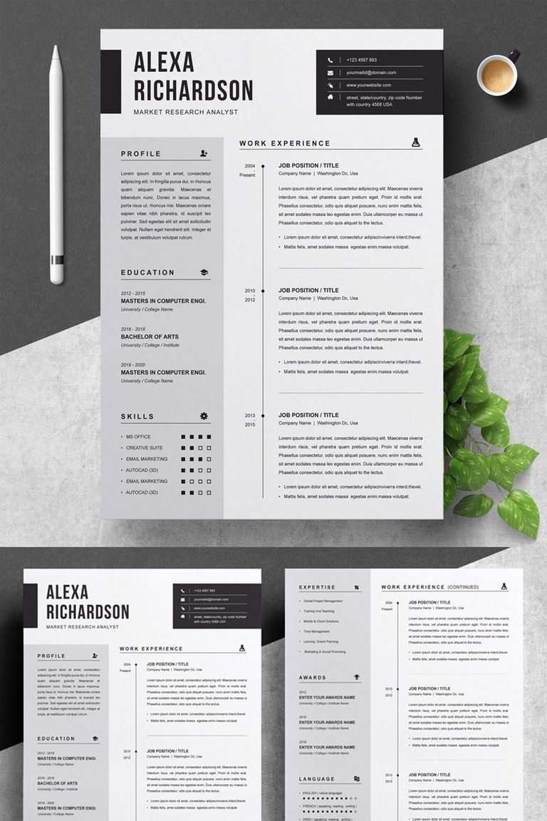 Attractive Resume Templates Free Download Andriblog