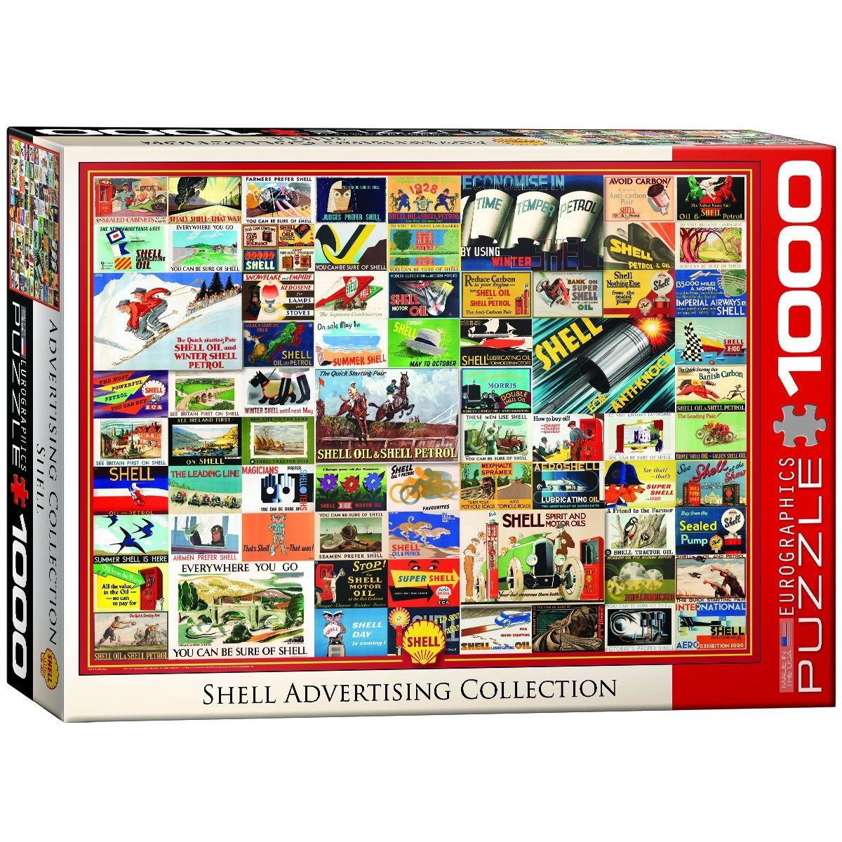 Shell Advertising Collection 1000 Piece Jigsaw Puzzle