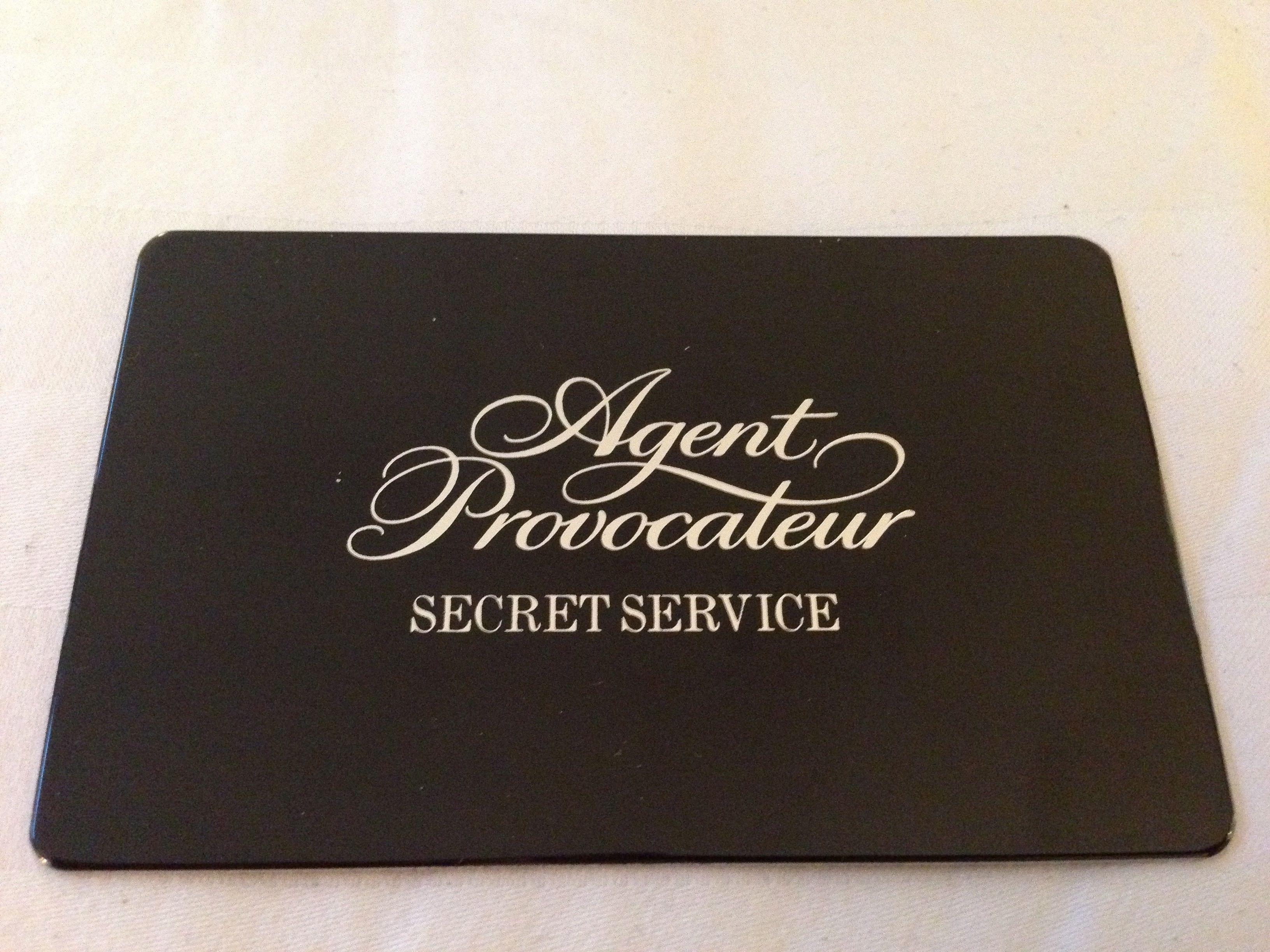 agent provocateur vip card 2014 agent provocateur