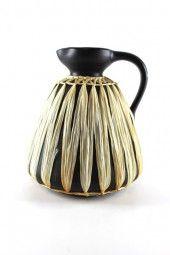 Keramik Kanne mit Geflecht