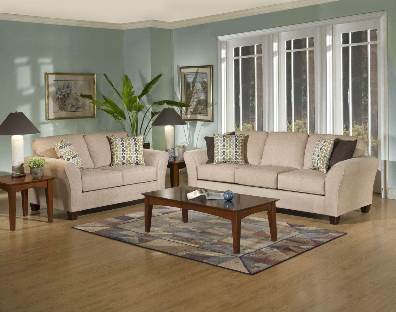 Serta upholstery 4650 viewpoint tan sofa loveseat living room triad furniture distributors 1