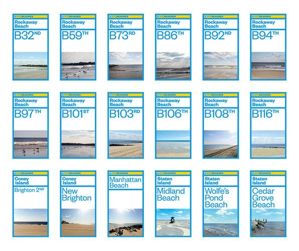 Pentagram Gives Nyc Beaches A Post Sandy Makeover Nyc Beaches Environmental Graphics Signage