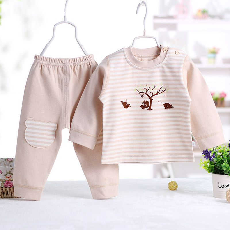 1fa06229f Click to Buy    2pcs set High quality Baby clothes pure cotton baby ...