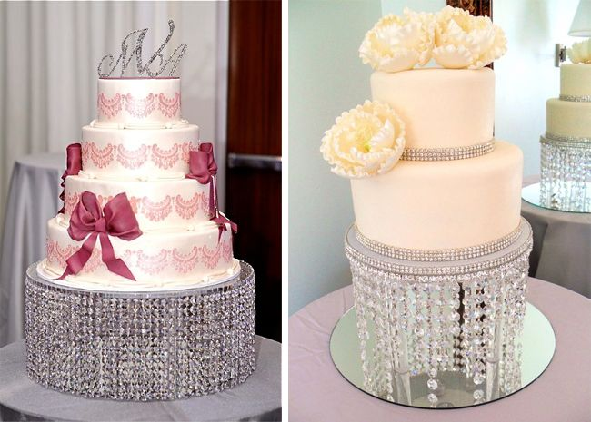 Elegant Sparkling Crystal Wedding Cake Stand For Your Envy
