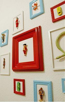 Childrens Bedroom Decoration Idea Vintage Toys In Frames