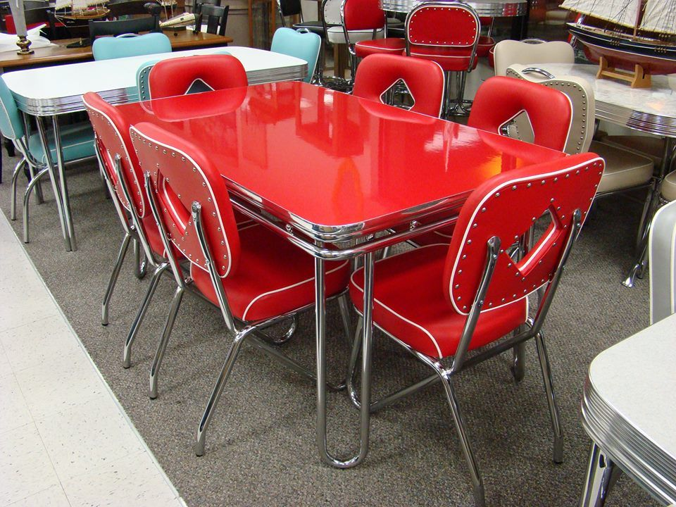 Chrome Dinette Chairs 403 best dinette sets images on pinterest | retro kitchens
