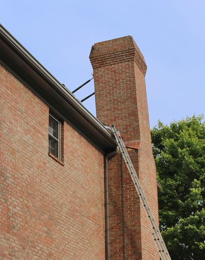 Leaning Chimney Repair Fix A Leaning Chimney Roof Repair Masonry Work Chimney Inspection