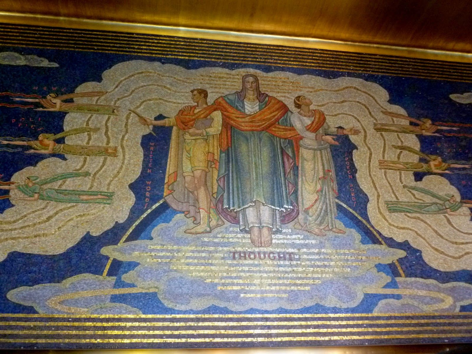 1250 avenue of the americas rockefeller center mosaic for Figure 8 mural