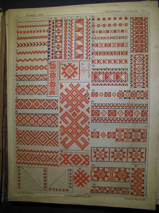 ukrainian folk embroidery, схеми вишивки, традиційна українська ...