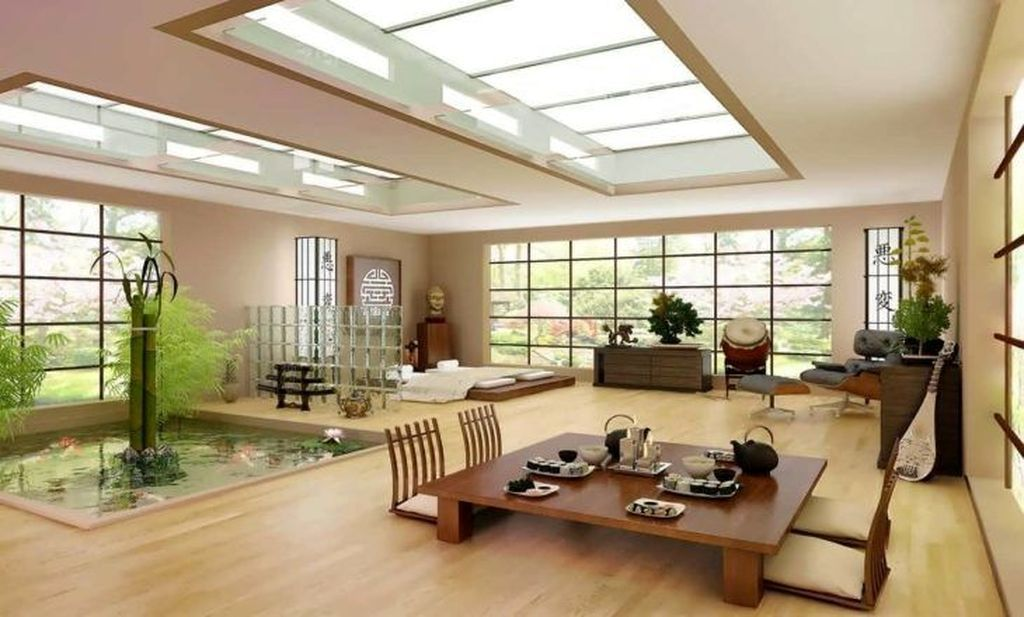 Classy Living Room Decor Ideas With Japanese Style 43 In 2020 Japanese Living Rooms Japanese Interior Design Living Room Japanese Style