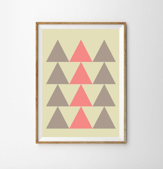 TribalTriangles Graphic Poster Print Ethnic by MILKANDPAPER