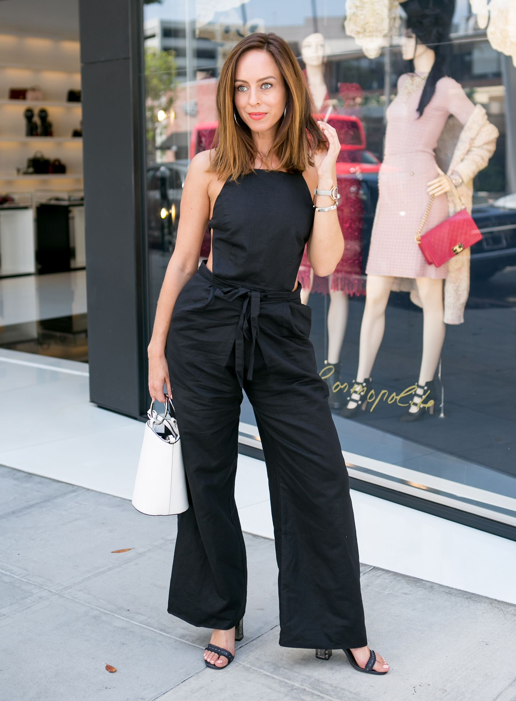 ea6ae04ee5b7 Sydne Style wears fame and partners black jumpsuit for summer date night  ideas